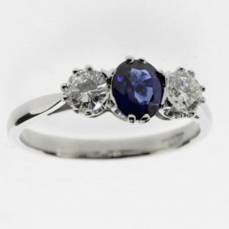 MS6339 Sapphire & Diamond Ring