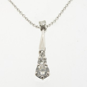 PD0333 18ct Diamond Pendant