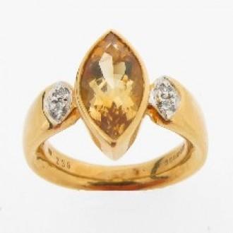 RM0026 Citrine & Diamond ring