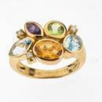 RM0059  Multi Gem & Diamond Ring