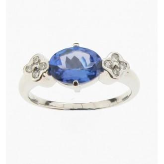 RM0093 18ct Tanzanite & Diamond Ring