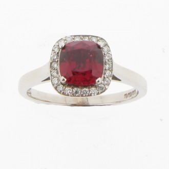 RO0030 18ct Diamond & Spinel Dress Ring