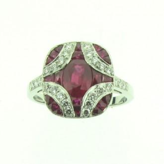 RR0015 Ruby & Diamond Ring
