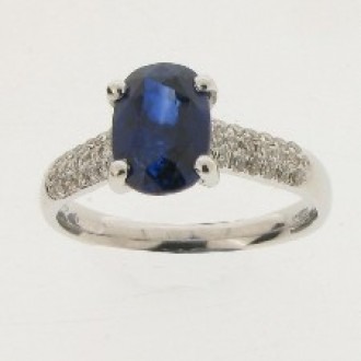 RS0075 Sapphire & Diamond Ring